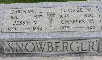 SNOWBERGER, CHARLES W. - Ashland County, Ohio | CHARLES W. SNOWBERGER - Ohio Gravestone Photos