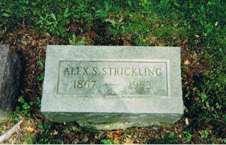 STRICKLING, ALEXANDER SWEENEY - Ashland County, Ohio | ALEXANDER SWEENEY STRICKLING - Ohio Gravestone Photos