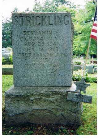 STRICKLING, BENJAMIN FRANKLIN - Ashland County, Ohio | BENJAMIN FRANKLIN STRICKLING - Ohio Gravestone Photos