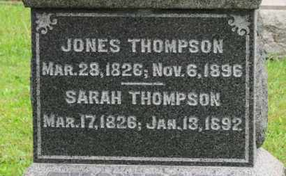 THOMPSON, JONES - Ashland County, Ohio | JONES THOMPSON - Ohio Gravestone Photos