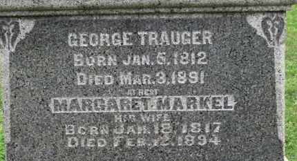 TRAUGER, MARGARET - Ashland County, Ohio | MARGARET TRAUGER - Ohio Gravestone Photos
