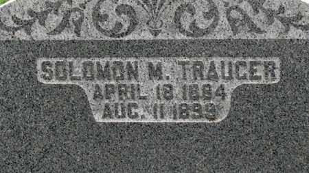 TRAUGER, SOLOMAN M. - Ashland County, Ohio | SOLOMAN M. TRAUGER - Ohio Gravestone Photos