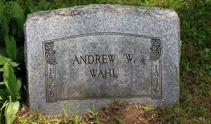 WAHL, ANDREW W. - Ashland County, Ohio | ANDREW W. WAHL - Ohio Gravestone Photos