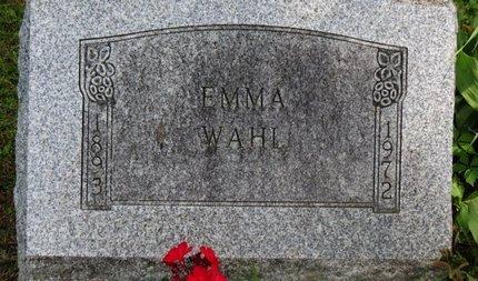 WAHL, EMMA - Ashland County, Ohio | EMMA WAHL - Ohio Gravestone Photos