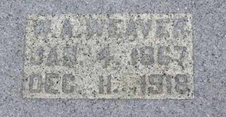 WEAVER, W.A. - Ashland County, Ohio   W.A. WEAVER - Ohio Gravestone Photos