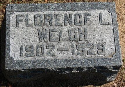 WELCH, FLORENCE L. - Ashland County, Ohio | FLORENCE L. WELCH - Ohio Gravestone Photos