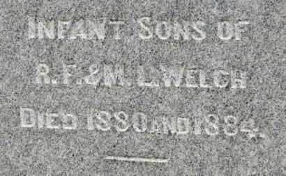 WELCH, INFANT SONS - Ashland County, Ohio | INFANT SONS WELCH - Ohio Gravestone Photos