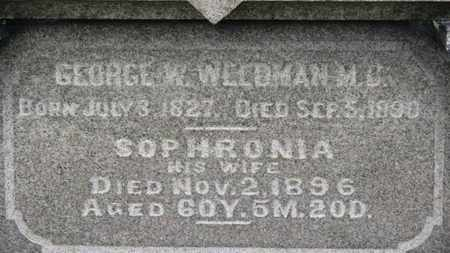 WELDMAN, GEORGE W. - Ashland County, Ohio | GEORGE W. WELDMAN - Ohio Gravestone Photos