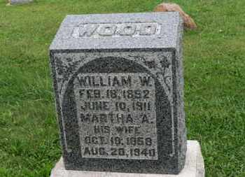 WOOD, MARTHA A. - Ashland County, Ohio | MARTHA A. WOOD - Ohio Gravestone Photos