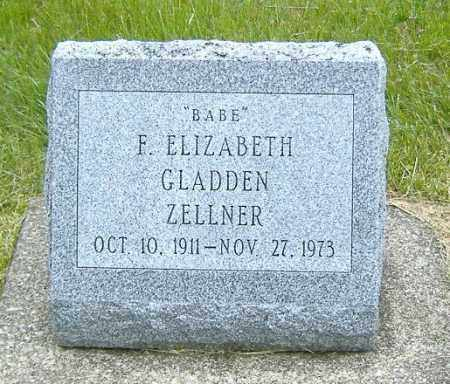 GLADDEN ZELLNER, FRANCES ELIZABETH - Ashland County, Ohio | FRANCES ELIZABETH GLADDEN ZELLNER - Ohio Gravestone Photos