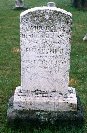 DODGE, JOHN - Ashtabula County, Ohio | JOHN DODGE - Ohio Gravestone Photos