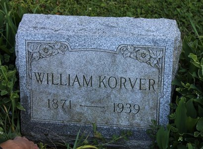 KORVER, WILLIAM - Ashtabula County, Ohio | WILLIAM KORVER - Ohio Gravestone Photos