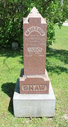 SHAW, ASIL  B. - Ashtabula County, Ohio | ASIL  B. SHAW - Ohio Gravestone Photos