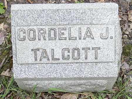 TALCOTT, CORDELIA JANE - Ashtabula County, Ohio | CORDELIA JANE TALCOTT - Ohio Gravestone Photos