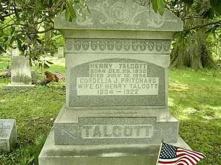 PRITCHARD TALCOTT, CORDELIA JANE - Ashtabula County, Ohio | CORDELIA JANE PRITCHARD TALCOTT - Ohio Gravestone Photos