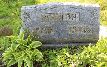 WELTON, HALLIE  G. - Ashtabula County, Ohio | HALLIE  G. WELTON - Ohio Gravestone Photos