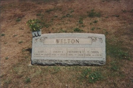 THOMPSON WELTON, MARY ELIZABETH - Ashtabula County, Ohio | MARY ELIZABETH THOMPSON WELTON - Ohio Gravestone Photos