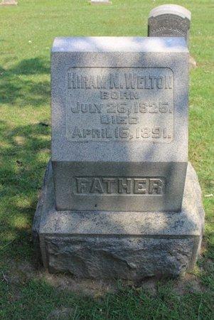 WELTON, HIRAM N. - Ashtabula County, Ohio | HIRAM N. WELTON - Ohio Gravestone Photos