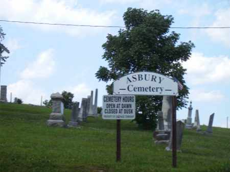 ASBURY CEMETERY, ENTRANCE - Athens County, Ohio   ENTRANCE ASBURY CEMETERY - Ohio Gravestone Photos