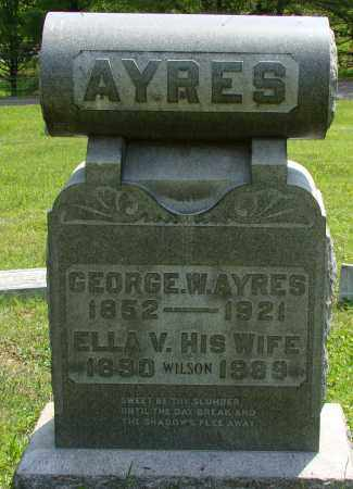 AYERS, GEORGE W. - Athens County, Ohio | GEORGE W. AYERS - Ohio Gravestone Photos