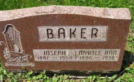 BAKER, MYRTLE ANN - Athens County, Ohio | MYRTLE ANN BAKER - Ohio Gravestone Photos