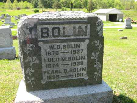 BOLIN, W.D. - Athens County, Ohio | W.D. BOLIN - Ohio Gravestone Photos