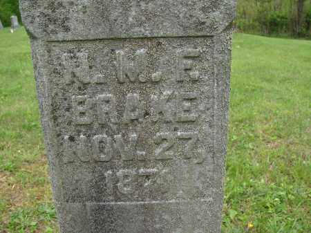 BRAKE, N. M. F. - Athens County, Ohio | N. M. F. BRAKE - Ohio Gravestone Photos