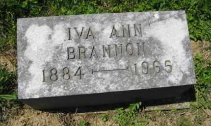 BRANNON, IVA ANN - Athens County, Ohio | IVA ANN BRANNON - Ohio Gravestone Photos