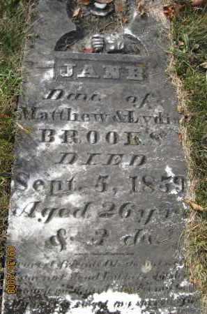BROOKS, JANE - Athens County, Ohio | JANE BROOKS - Ohio Gravestone Photos