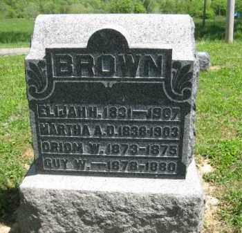 BROWN, MARTHA A. D. - Athens County, Ohio | MARTHA A. D. BROWN - Ohio Gravestone Photos