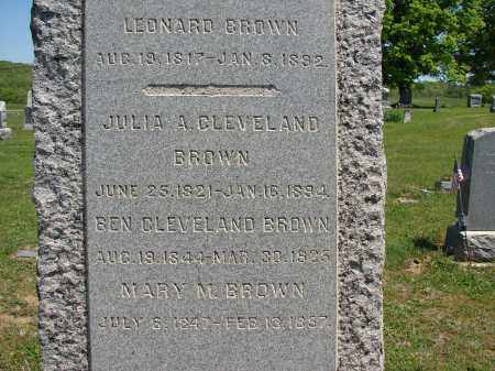 CLEVELAND BROWN, JULIA A - Athens County, Ohio | JULIA A CLEVELAND BROWN - Ohio Gravestone Photos