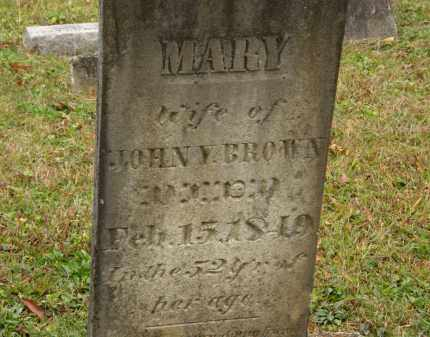 BROWN, MARY - Athens County, Ohio | MARY BROWN - Ohio Gravestone Photos