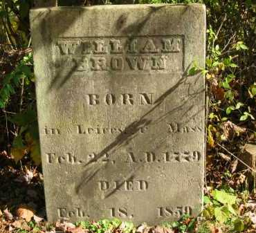 BROWN, WILLIAM - Athens County, Ohio | WILLIAM BROWN - Ohio Gravestone Photos
