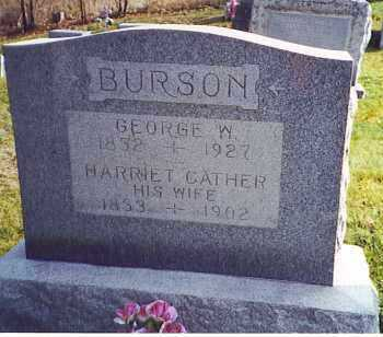 BURSON, GEORGE W. - Athens County, Ohio | GEORGE W. BURSON - Ohio Gravestone Photos