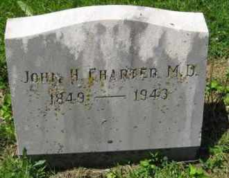CHARTER, JOHN H. M.D. - Athens County, Ohio | JOHN H. M.D. CHARTER - Ohio Gravestone Photos