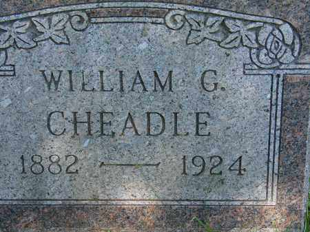 CHEADLE, WILLIAM G. - Athens County, Ohio | WILLIAM G. CHEADLE - Ohio Gravestone Photos