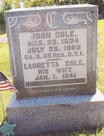 COLE, JOHN - Athens County, Ohio | JOHN COLE - Ohio Gravestone Photos