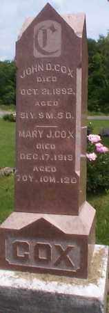 COX, MARY J. - Athens County, Ohio | MARY J. COX - Ohio Gravestone Photos