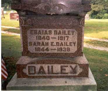 DAILEY, ESAIAS - Athens County, Ohio | ESAIAS DAILEY - Ohio Gravestone Photos