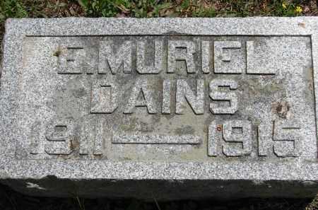 DAINS, E. MURIEL - Athens County, Ohio | E. MURIEL DAINS - Ohio Gravestone Photos