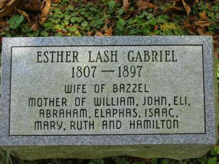 LASH GABRIEL, ESTHER - Athens County, Ohio | ESTHER LASH GABRIEL - Ohio Gravestone Photos