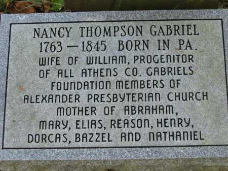 GABRIEL, NANCY - Athens County, Ohio | NANCY GABRIEL - Ohio Gravestone Photos