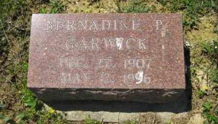 GARWICK, BERNADINE P. - Athens County, Ohio | BERNADINE P. GARWICK - Ohio Gravestone Photos