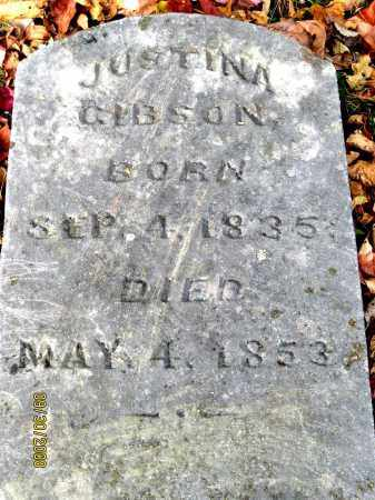 GIBSON, JUSTINA - Athens County, Ohio | JUSTINA GIBSON - Ohio Gravestone Photos