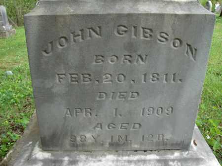 GIBSON, JOHN - Athens County, Ohio | JOHN GIBSON - Ohio Gravestone Photos