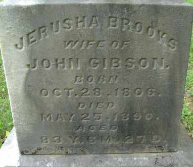 BROOKS GIBSON, JERUSHA - Athens County, Ohio | JERUSHA BROOKS GIBSON - Ohio Gravestone Photos