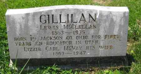 MCVAY GILLILAN, LIZZIE CARL - Athens County, Ohio | LIZZIE CARL MCVAY GILLILAN - Ohio Gravestone Photos