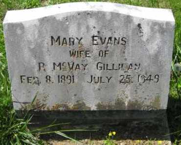 EVANS GILLILAN, MARY - Athens County, Ohio | MARY EVANS GILLILAN - Ohio Gravestone Photos