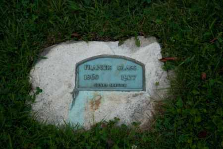 GLASS, FRANCIS - Athens County, Ohio | FRANCIS GLASS - Ohio Gravestone Photos
