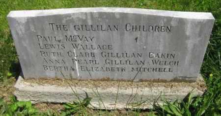 GRAVESTONE, THE GILLILAN CHILDREN - Athens County, Ohio | THE GILLILAN CHILDREN GRAVESTONE - Ohio Gravestone Photos